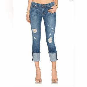 Hudson Muse Distressed Cuffed Jeans